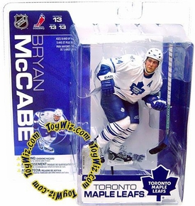 McFarlane Toys NHL Sports Picks Series 13 Action Figure Bryan McCabe (Toronto Maple Leafs) White Jersey