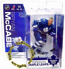 McFarlane Toys NHL Sports Picks Series 13 Action Figure Bryan McCabe (Toronto Maple Leafs) Blue Jersey & Mohawk Variant