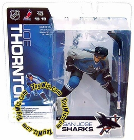 McFarlane Toys NHL Sports Picks Series 13 Action Figure Joe Thornton (San Jose Sharks) Blue Jersey