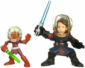 Star Wars 2010 Galactic Heroes Mini Figure 2-Pack Anakin Skywalker & Ahsoka Tano