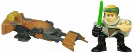 Star Wars 2010 Galactic Heroes Mini Figure 2-Pack Endor Luke Skywalker & Speeder Bike