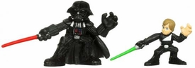 Star Wars 2010 Galactic Heroes Mini Figure 2-Pack Jedi Luke Skywalker & Darth Vader