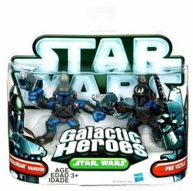 Star Wars 2010 Galactic Heroes Mini Figure 2-Pack Mandalorian Warrior & Pre Vizsla