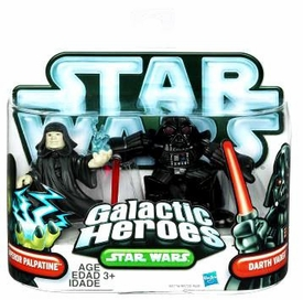 Star Wars 2010 Galactic Heroes Mini Figure 2-Pack Emperor Palpatine & Darth Vader