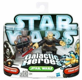 Star Wars 2010 Galactic Heroes 2-Pack Count Dooku & Commando Droid