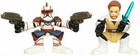 Star Wars 2010 Galactic Heroes Mini Figure 2-Pack Obi-Wan Kenobi & Commander Fil