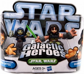 Star Wars 2010 Galactic Heroes Mini Figure 2-Pack Barriss Offee & Quinlan Vos