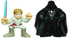 Star Wars 2010 Galactic Heroes Mini Figure 2-Pack Luke Skywalker & Darth Vader