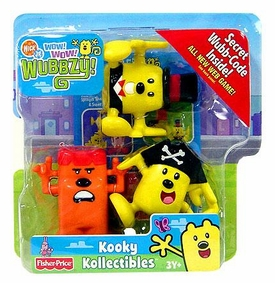 Wow Wow Wubbzy! Kooky Kollectible 3-Pack Krazy Kooky, Captain Wubbzy & Sir Wubbzy