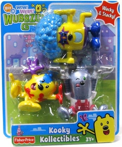 Wow Wow Wubbzy! Kooky Kollectible 3-Pack Colorific Wubbzy, Rockin' Blues Wubbzy & Robo-Widget 3000