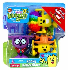 Wow Wow Wubbzy! Kooky Kollectible 3-Pack The Lone Wubbster, Wuzzlin' Walden & Wiggity Wubbzy