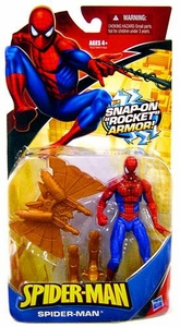 Spider-Man Classic Heroes Action Figure Spider-Man with Snap-On Rocket Armor