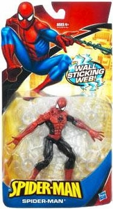 Spider-Man Classic Heroes Action Figure Spider-Man [Wall Sticking Web] Red & Black Costume!