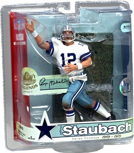 McFarlane Toys NFL Sports Picks Legends Series 3 Action Figure Roger Staubach (Dallas Cowboys) Blue & White Striped Helmet
