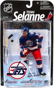 McFarlane Toys NHL Sports Picks Series 23 [2009 Wave 3] Action Figure Teemu Selanne (Winnipeg Jets) Blue Jersey All Star Collector Level Only 100 Made!