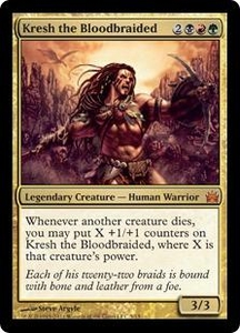 Magic: The Gathering From the Vault: Legends Single Card Gold Mythic Rare #5 Kresh the Bloodbraided