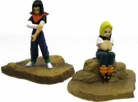 Dragonball Z Japanese Pair of Mini 2 Inch PVC Figures Android 17 & Android 18