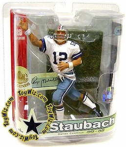 McFarlane Toys NFL Sports Picks Legends Series 3 Action Figure Roger Staubach (Dallas Cowboys) Red, White & Blue Striped Helmet Variant