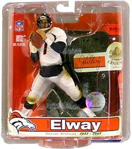 McFarlane Toys NFL Sports Picks Legends Series 3 Action Figure John Elway (Denver Broncos) White Jersey Variant