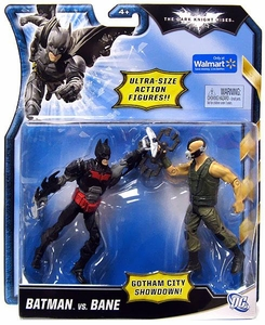 Mattel Dark Knight Rises Exclusive 5 Inch Ultra-Size Action Figure Red & Black Batman Vs. Green Vest Bane