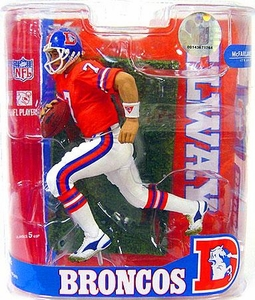 McFarlane Toys NFL Sports Picks Legends Series 3 Exclusive Action Figure John Elway (Denver Broncos) Orange Jersey Variant
