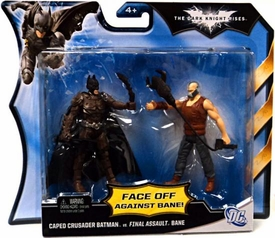 Batman Dark Knight Rises Action Figure 2-Pack Caped Crusader Batman Vs. Final Assault Bane [Brown Vest]