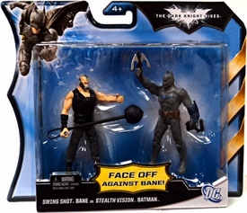 Batman Dark Knight Rises Action Figure 2-Pack Swing Shot Bane [Black Vest] Vs. Stealth Vision Batman
