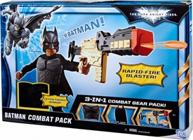 Batman Dark Knight Rises Roleplay Toy 3-In-1 Batman Combat Gear Pack  [Battle Armor, Action Cape & Blaster]