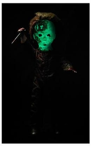 Mezco Toyz Living Dead Dolls Figure Halloween II Michael Myers [Glow In The Dark Version]