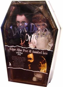 Mezco Toyz Living Dead Dolls 2 Pack Edgar Allan Poe & Annabel Lee