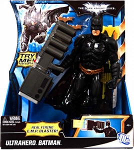 Batman Dark Knight Rises 10 Inch Deluxe Action Figure Ultrahero Batman [Real Firing E.M.P. Blaster!]