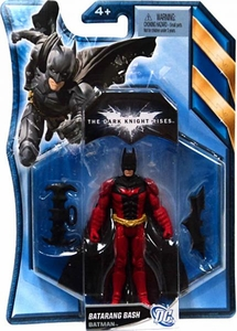 Batman Dark Knight Rises 4.5 Inch Action Figure with Accessories Batarang Batman  [Red Suit]