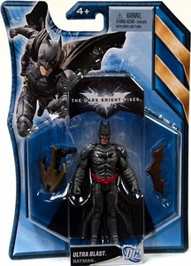 Batman Dark Knight Rises 4.5 Inch Action Figure with Accessories Ultra Blast Batman [Metallic Grey Suit]