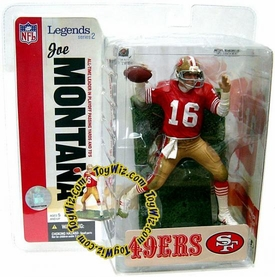 McFarlane Toys NFL Sports Picks Legends Series 2 Action Figure Joe Montana (San Francisco 49ers) Red Jersey