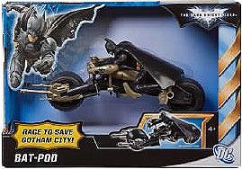 Batman Dark Knight Rises Vehicle Bat-Pod [Batman Figure is Not Removable!]