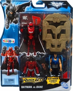 Batman Dark Knight Rises Exclusive QuickTek Deluxe Action Figure 2-Pack Batman [Red Suit] Vs. Bane [Gray Vest]