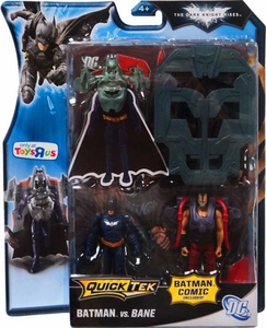 Batman Dark Knight Rises Exclusive QuickTek Deluxe Action Figure 2-Pack Batman [Blue Suit] Vs. Bane [Black Vest]