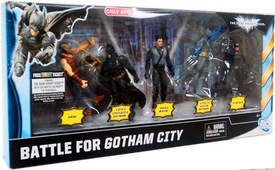 Batman Dark Knight Rises Exclusive 4 Inch Action Figure 5-Pack Battle For Gotham City [Bane, 2x Batman, Bruce Wayne & Catwoman]