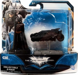 Batman Dark Knight Rises Mini Collectible 2-Pack Batman & The Tumbler