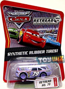 Disney / Pixar CARS Movie Exclusive 1:55 Die Cast Car with Synthetic Rubber Tires Retread
