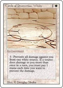 Magic the Gathering Revised Edition Single Card Common Circle of Protection: White