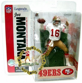 McFarlane Toys NFL Sports Picks Legends Series 2 Action Figure Joe Montana (San Francisco 49ers) White Jersey Variant