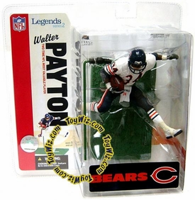 McFarlane Toys NFL Sports Picks Legends Series 2 Action Figure Walter Payton (Chicago Bears) White Jersey Variant
