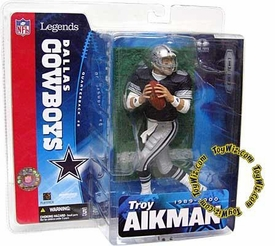 McFarlane Toys Sports Picks NFL Legends Series 1 Action Figure Troy Aikman (Dallas Cowboys) Blue Jersey Variant