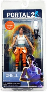 Portal 2 NECA 7 Inch Limited Edition Action Figure Chell with Light-Up Portal Gun