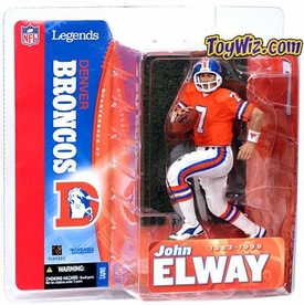 McFarlane Toys NFL Sports Picks Legends Series 1 Action Figure John Elway (Denver Broncos) Orange Jersey