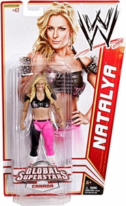 Mattel WWE Wrestling Basic Series 20 Action Figure #43 Natalya [Canada]