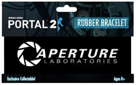 Portal 2 Rubber Bracelet Aperture Laboratories Logo [Black]