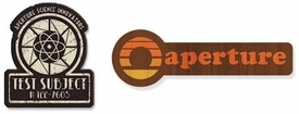 Portal 2 Collectible Patch Set #3 40's & 70's Aperture Laboratories Logos