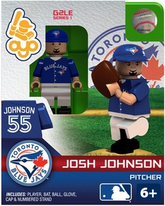 OYO Baseball MLB Generation 2 Building Brick Minifigure Josh Johnson [Toronto Blue Jays]